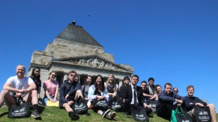 ANU School of History Students learning 'in the field'
