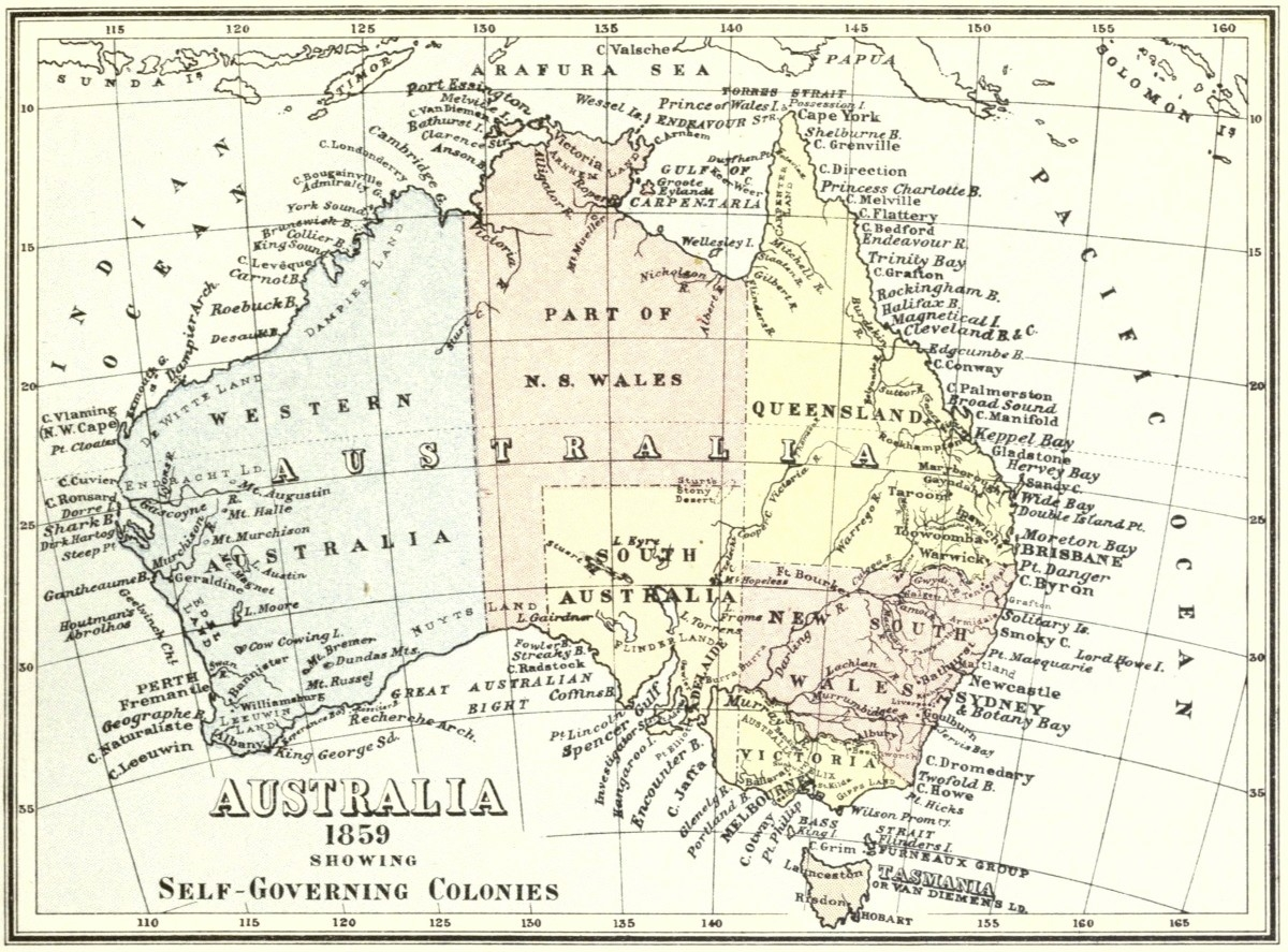Map Of Australia 26th Parallel.Map Of Australia Showing 26th Parallel Kameroperafestival