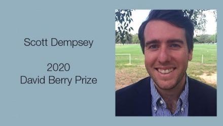 Scott Dempsey Awarded 2020 David Berry Prize