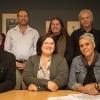 ADB Indigenous Working Party, 2017. Back row: Natalie Harkin, Bruce Judd, Jakelin Troy, Malcolm Allbrook (ADB managing editor), Melanie Nolan (ADB general editor); Front row: Steve Kinnane, Shino Kinoshi, Odette Best